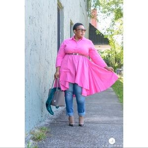Tops - Pink 'Dress' Top - Size 2X
